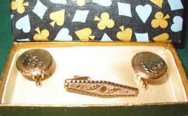 Golden cuff links