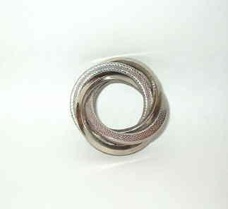 Vintage Silver Tone Swirl Pn