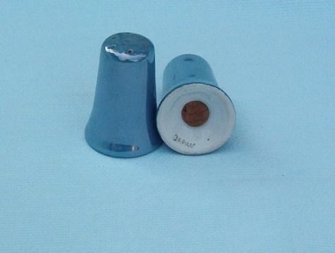 iridescent Lusterware salt pepper
