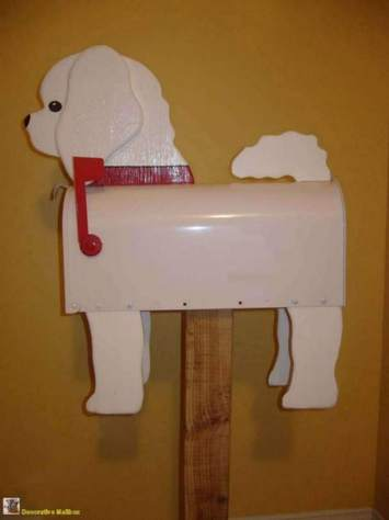 bichon frise mailbox