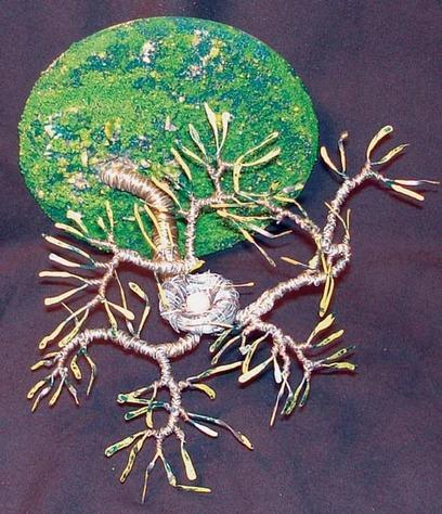 Bird Nest No. 5 - Wire Sculpture