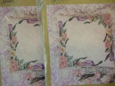 Floral Pillow Candlewicking