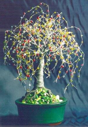 Multi Color Oak - Wire Tree Sculpture