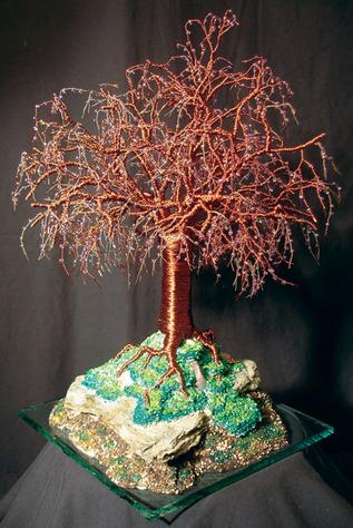 Mystical Island - Wire Tree Sculpture