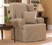 NEW! T CUSHION WING CHAIR LINEN SLIPCOVER SUREFIT