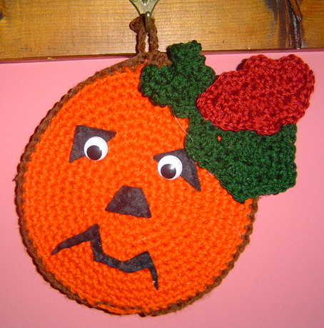 PUMPKIN FACE potholder