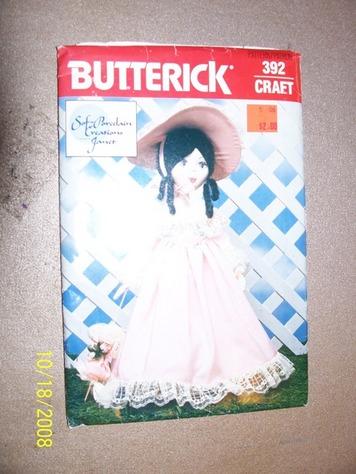 Butterick 392 doll pattern