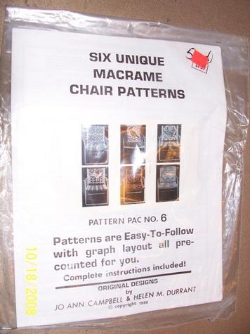 Six Unique Macrame Chair Patterns