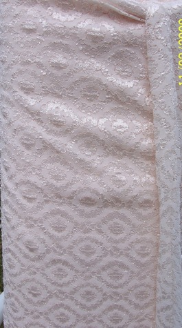 pink stretch lace fab