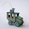Vintage Wooden Car Christmas Ornament - Folk Horseless Carriage