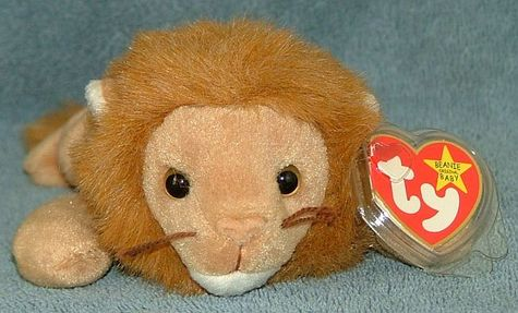 f4a895d30f2 TY Beanie Baby Roary the Lion 1996 Retired Free Shipping  For Sale ...
