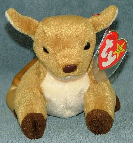 eb4085991e2 TY Beanie Baby Whisper the Deer 1998 Retired Free Shipping  For Sale ...