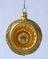 Golden Glass Globe Dimple Christmas Ornament - Czech