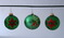 Decorated Green Glass Globe Christmas Ornaments - 3 - Germany