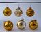 Vintage Glitter Glass Globe Christmas Ornaments - 6 - Germany