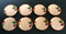 Vintage Franciscan Apple Saucers - Set of 8 - Made in USA