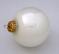 Large Iridescent White Glass Globe Christmas Ornament