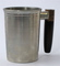 Pewter Tankard With Wooden Handle - Sleek Silhouette