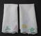 Vintage Embroidered Linen Guest Towels - Set of 4