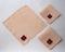 Vintage Linen Tea Napkins With Appliqued Pansy - Set of 4