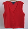 Tomato Red Cotton Knit Vest - Herman Geist - Classic Sportswear
