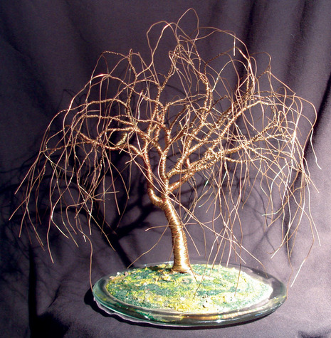 Full Willow, wire tree sculpture