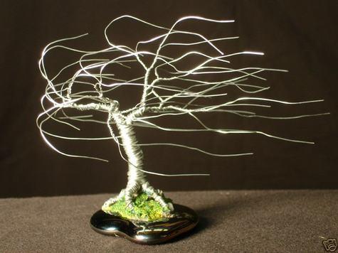 Wind Swept, wire tree sculpture