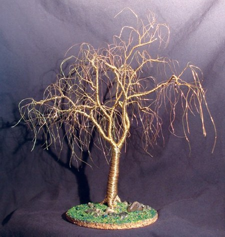 Winter Willow, wire tree sculpture