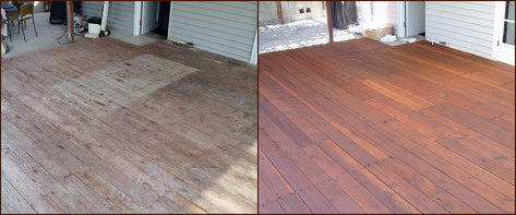 Restore Old Redwood Decks