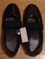 Women's shiny black slip-on shoes * size 8
