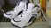 Reebok Scrimmage Athletic Shoes (White W/Navy blue Trim) SIZE 9