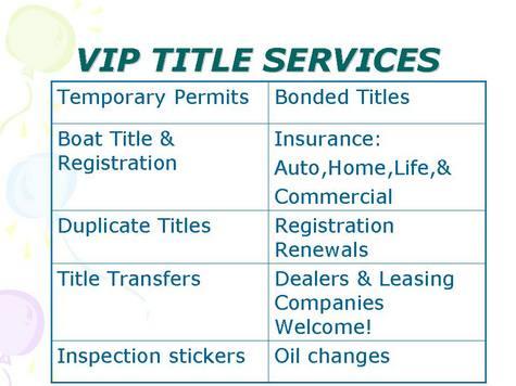 VIP Title Service