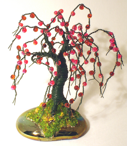 Small Apple - Wire Tree Sculpture