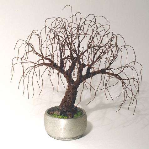 Rusted Bonsai - Wire Tree Sculpture