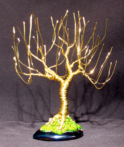 Upright Willow - Wire Tree Sculpture