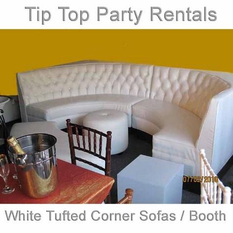 White Tufted Lounge Corner Sofas