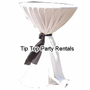 Round Cocktail Table Rentals Los Angeles