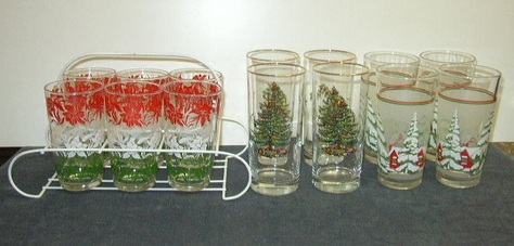 Vintage, Seasonal Glasses