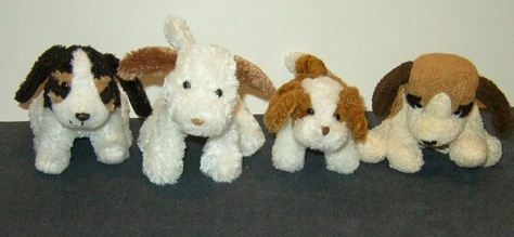 Miniature, Stuffed Puppies