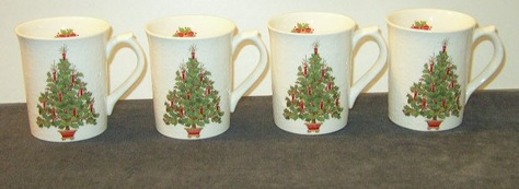 Otagiri Christmas Mugs