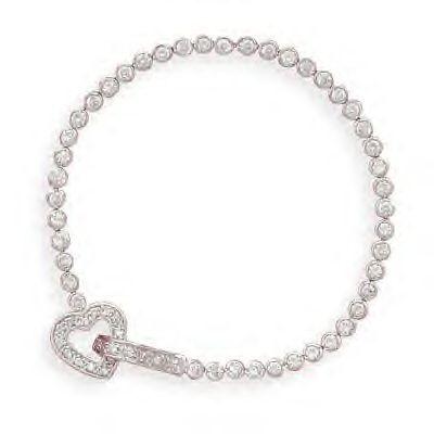 Beautiful Bezel Set CZ Bracelet!