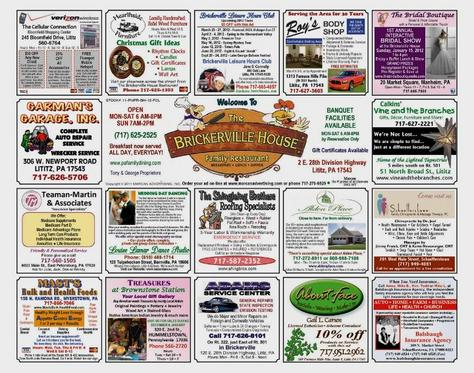 Advertising Placemat by Marcan Advertising, Inc.