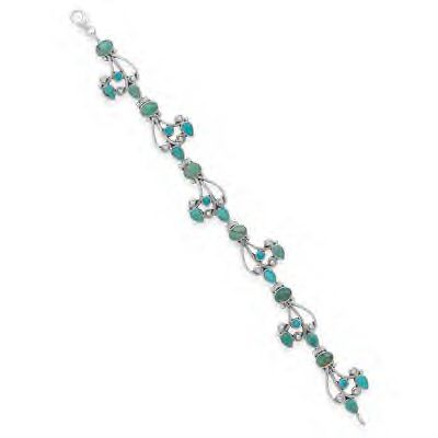 Genuine Turquoise and .925 Sterling Silver!