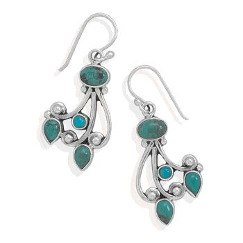 Genuine .925 Sterling Silver and Turquoise!