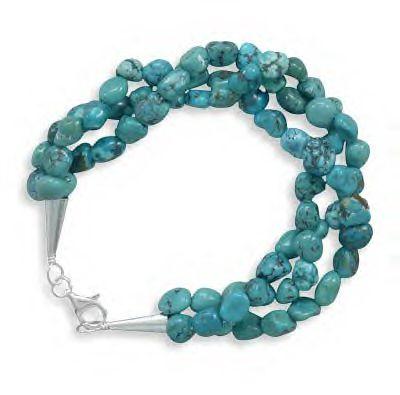 Beautiful Brand New Turquoise Nugget Bracelet