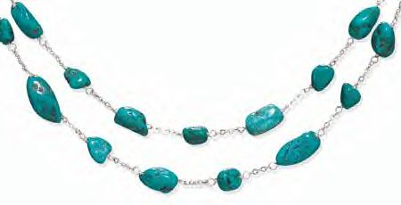 Fine Silver and Turquoise Necklace!