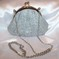 Claire's Silver Sparkly Evening Bag w/ Chain Lovely
