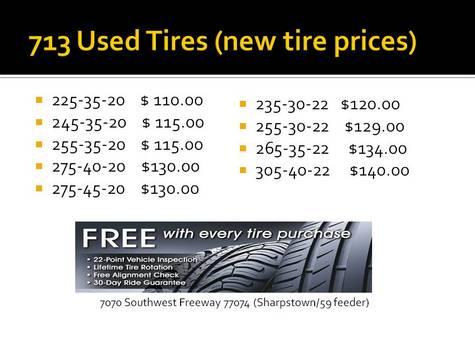 New Tires Houston