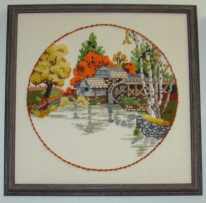 Item #1 - Beautiful, Old, River Mill Scene