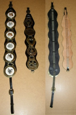 Collectible Horsebrasses on Martingales - Front & Back